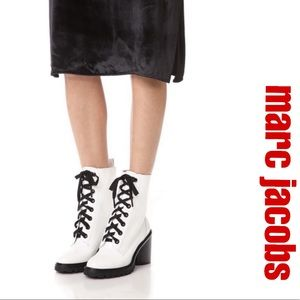 """Marc Jacobs """"Ryder"""" White Combat Boots"""